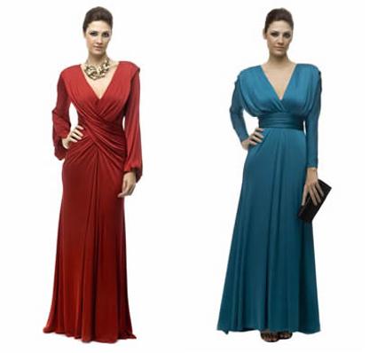 Vestidos longos com long sleev (Alphorria)